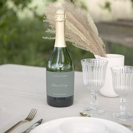 Etiquette bouteille mariage Pastel de Fleurs & Feuillage, 13 x 8 cm gratuit