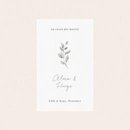Etiquette bouteille mariage Pastel de Fleurs & Feuillage, 8 x 13 cm pas cher