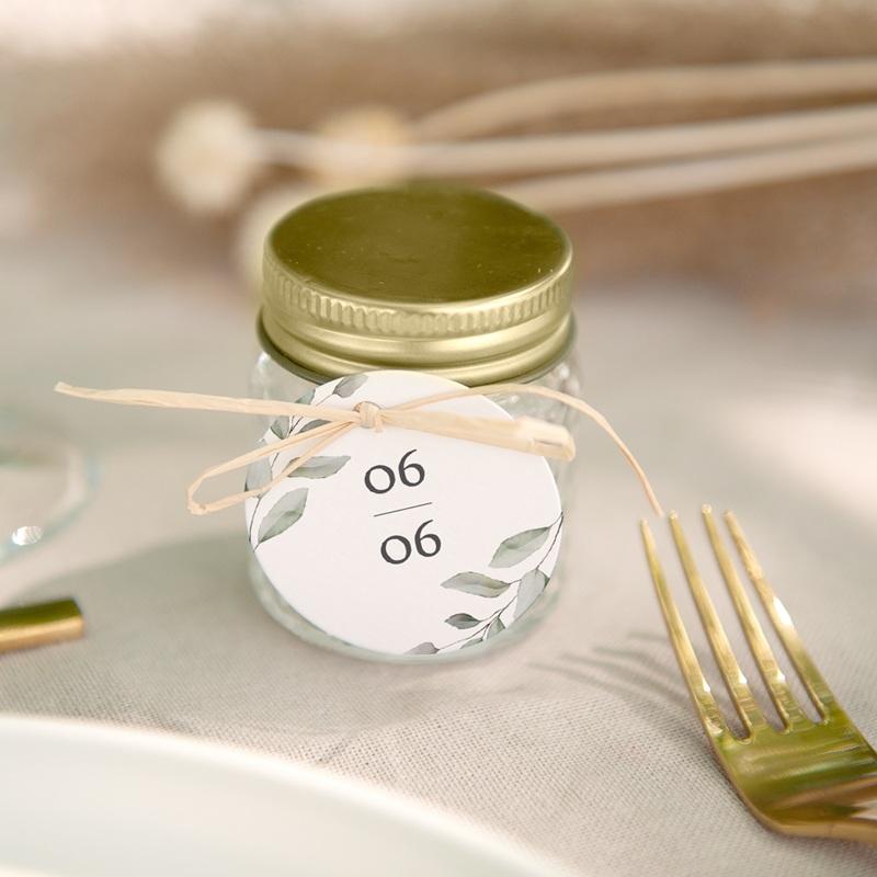 Etiquettes cadeaux mariage Pastel de Fleurs & Feuillage, Souvenir