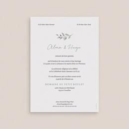 Faire-part de mariage Pastel de Fleurs & Feuillage, 12 x 16,7 cm pas cher