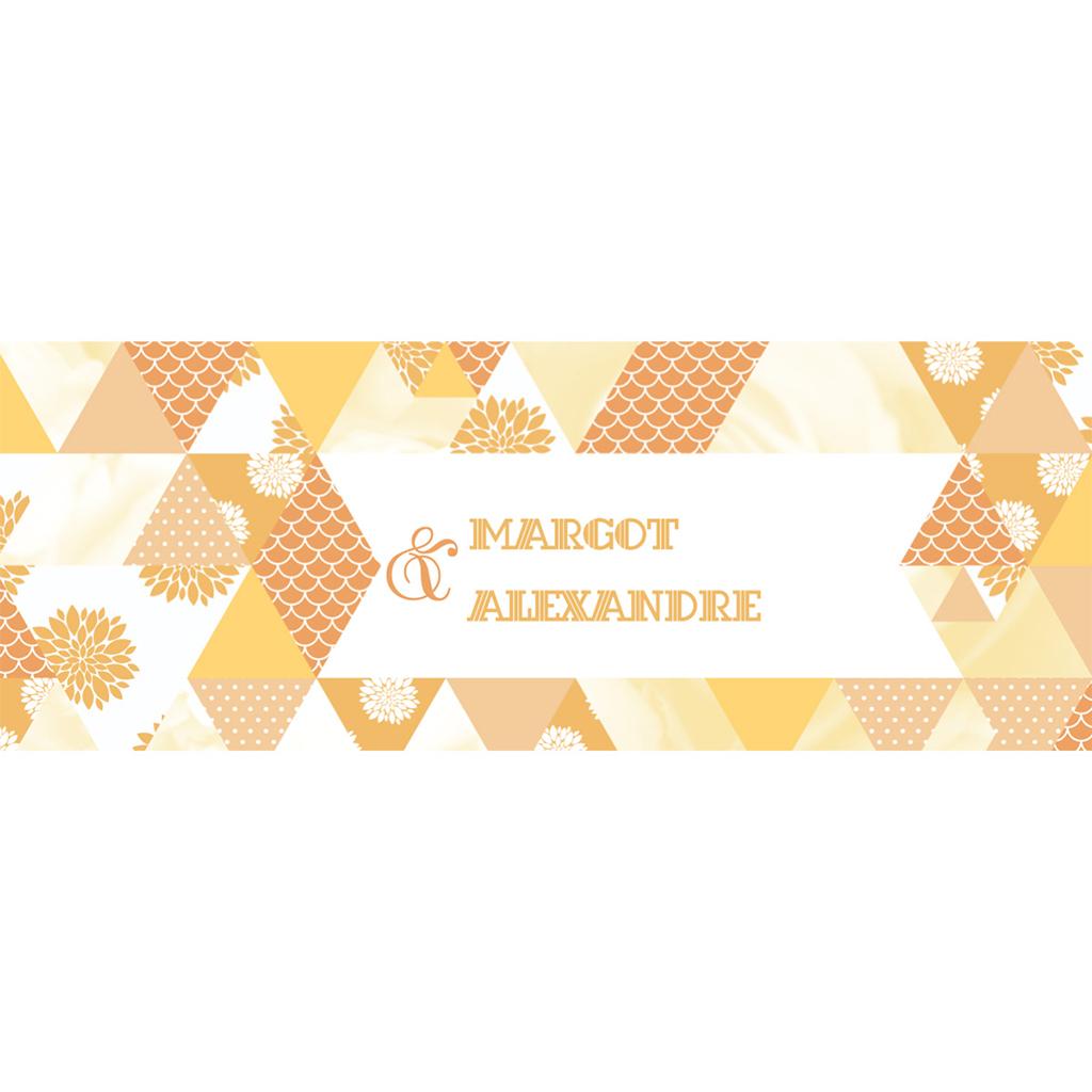 Marque-place mariage Origami jaune pas cher