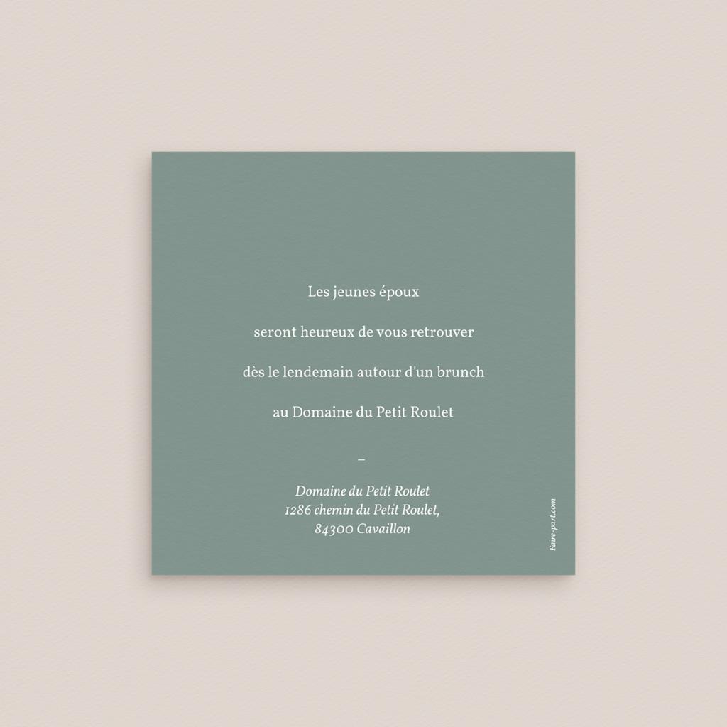 Carte d'invitation mariage Pastel de Fleurs & Feuillage, Brunch pas cher