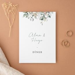 Carte d'invitation mariage Pastel de Fleurs & Feuillage, Diner