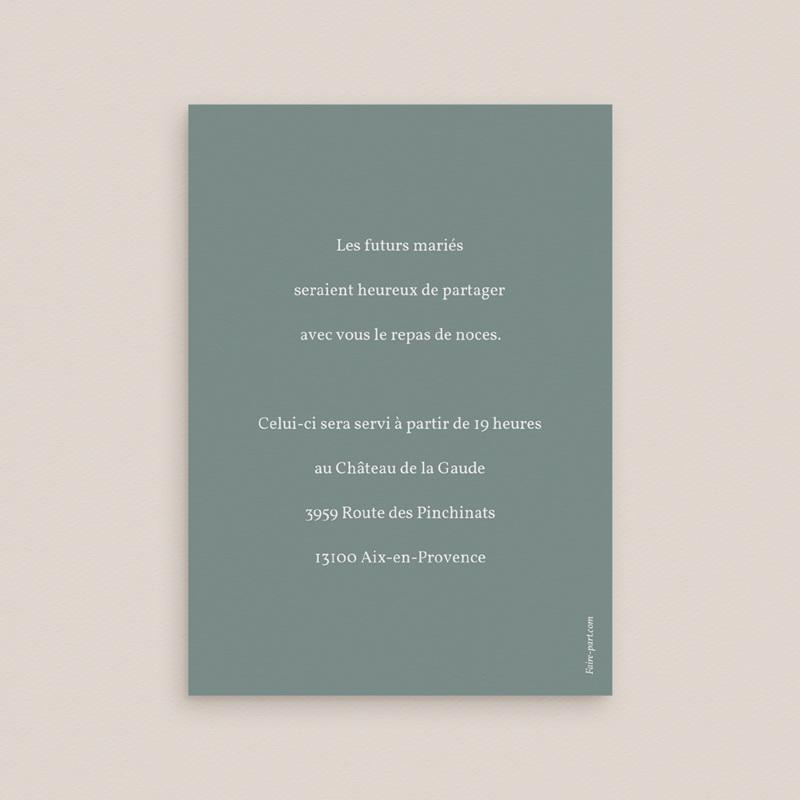 Carte d'invitation mariage Pastel de Fleurs & Feuillage, Diner pas cher