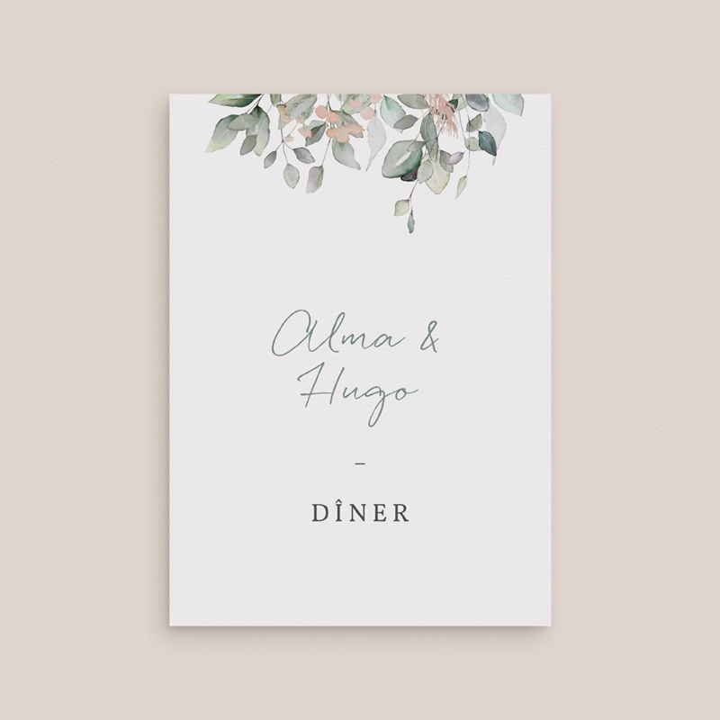 Carte d'invitation mariage Pastel de Fleurs & Feuillage, Diner gratuit