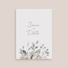 Save-the-date mariage Pastel de Fleurs & Feuillage, D-Day gratuit