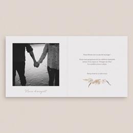 Carte anniversaire de mariage Couronne de Fleurs d'Oranger et photo pas cher