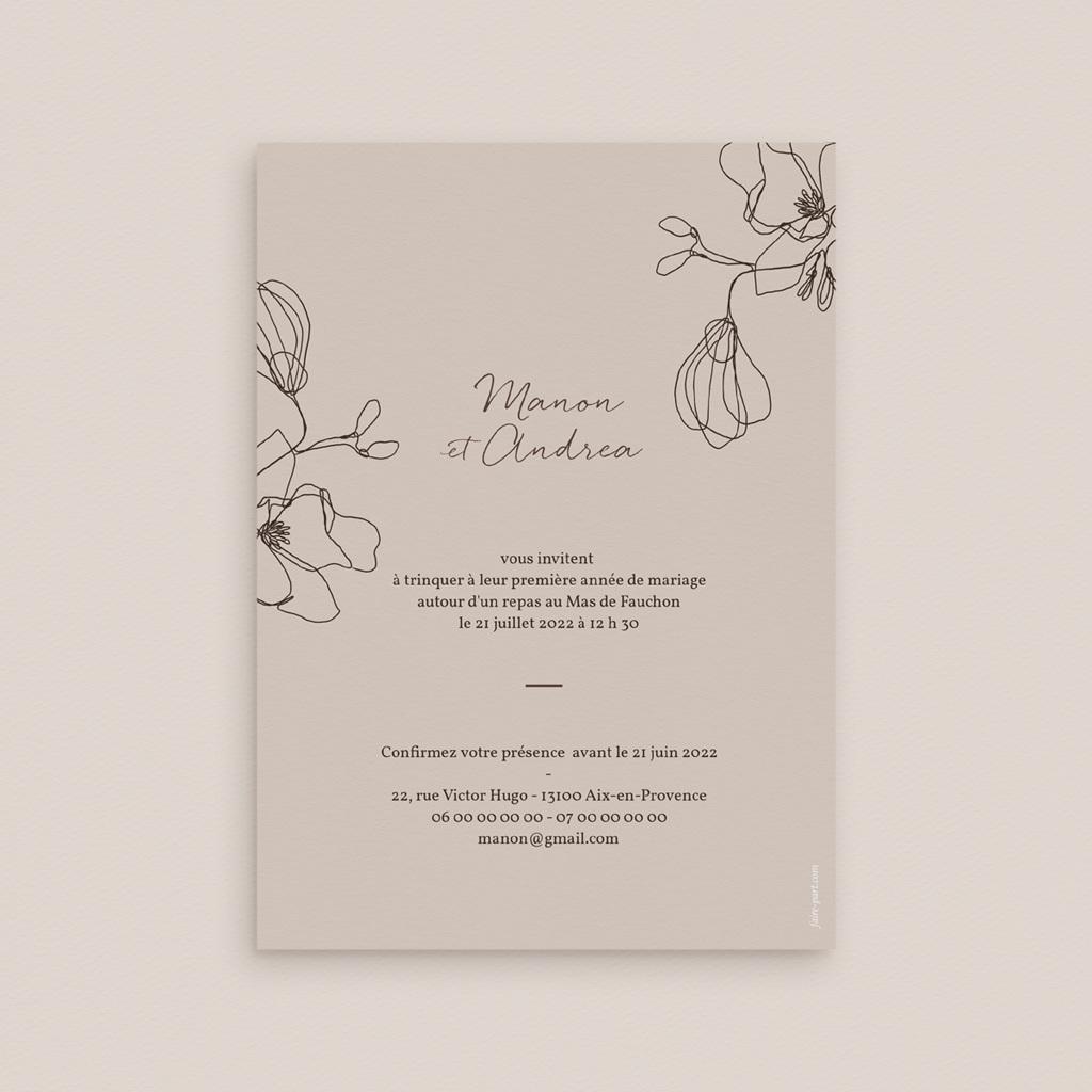 Carte anniversaire de mariage Noces de coton, papier ou de soie, Empreinte Cerisier pas cher