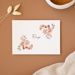 Carton réponse mariage Arche de roses caramel, Rsvp