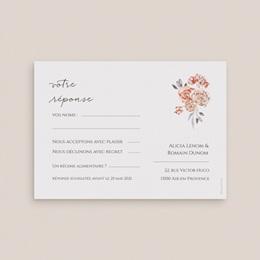 Carton réponse mariage Arche de roses caramel, Rsvp pas cher