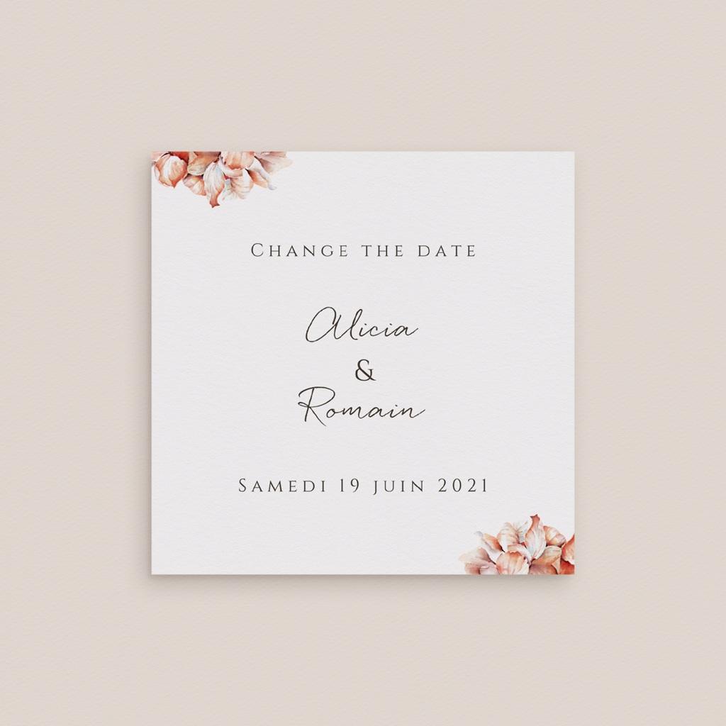 Change the date mariage Arche de roses caramel, Photo, 9,5 x 9.5 cm gratuit