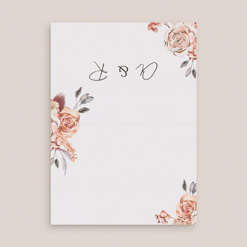 Marque-place mariage Arche de roses caramel, 7,5 x 5,2 cm pas cher