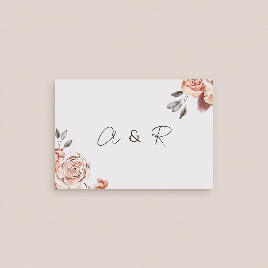 Marque-place mariage Arche de roses caramel, 7,5 x 5,2 cm gratuit
