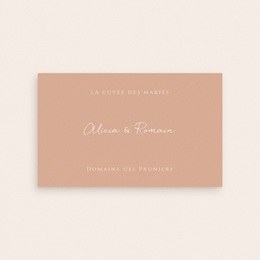 Etiquette bouteille mariage Arche de roses caramel, Champagne pas cher