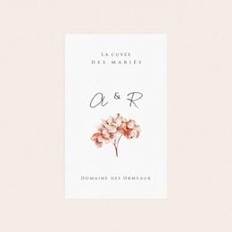 Etiquette bouteille mariage Arche de roses caramel, eau ou vin pas cher