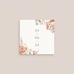 Etiquettes cadeaux mariage Arche de roses caramel, Souvenir Invité gratuit
