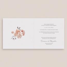 Faire-part de mariage Arche de roses caramel, carré double 14 x 14 pas cher