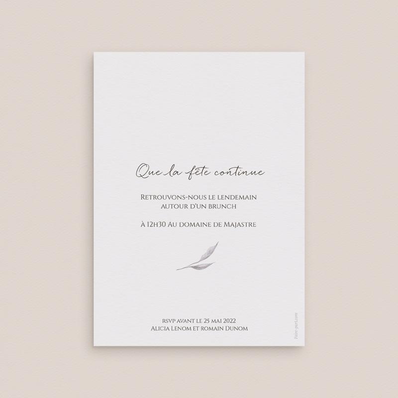 Carte d'invitation mariage Arche de roses caramel, Brunch pas cher