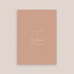 Carte d'invitation mariage Arche de roses caramel, Cocktail et Dîner gratuit