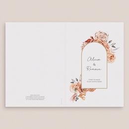 Livret de messe mariage Arche de roses caramel, Couverture gratuit