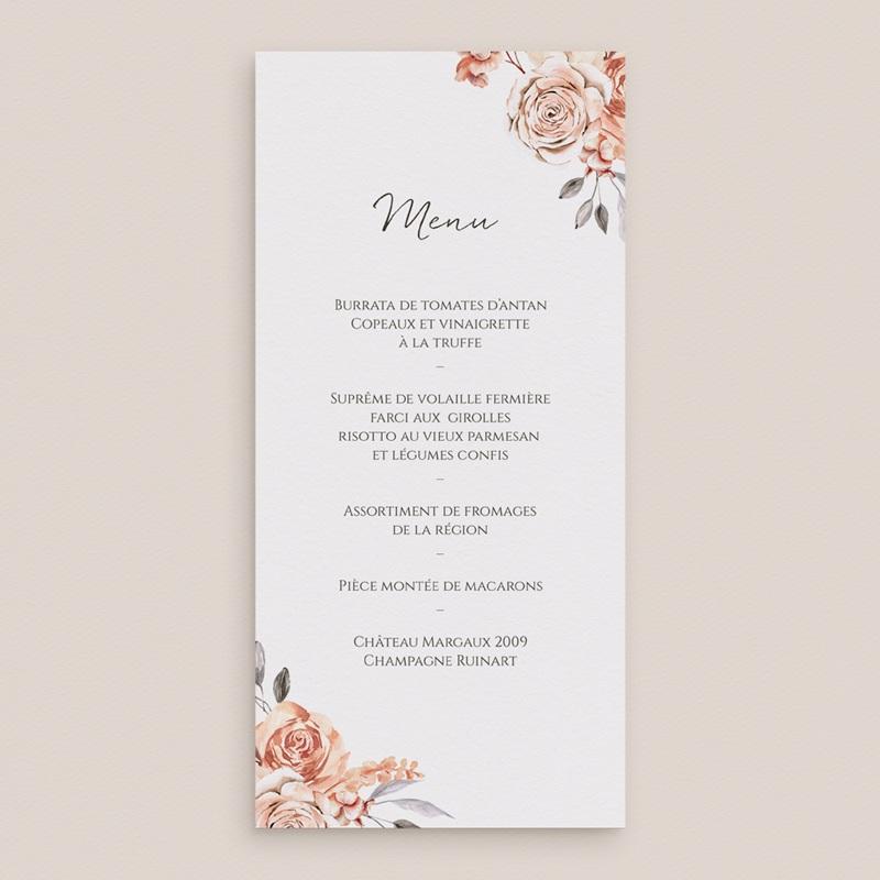Menu mariage Arche de roses caramel, repas de noces gratuit