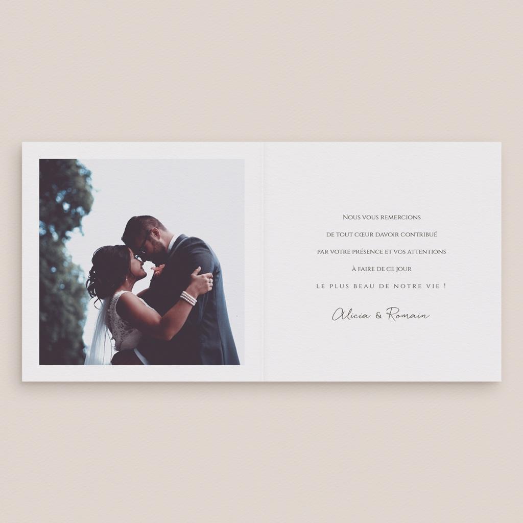 Carte de remerciement mariage Arche de roses caramel, 2 volets 14 x 14 pas cher