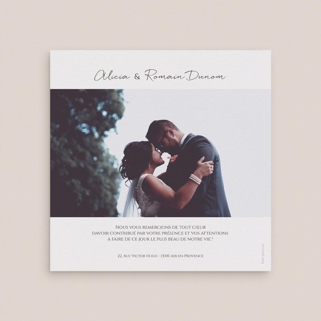 Carte de remerciement mariage Arche de roses caramel, photo 14 x 14 pas cher