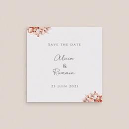 Save-the-date mariage Arche de roses caramel, 2 volets, Photo gratuit