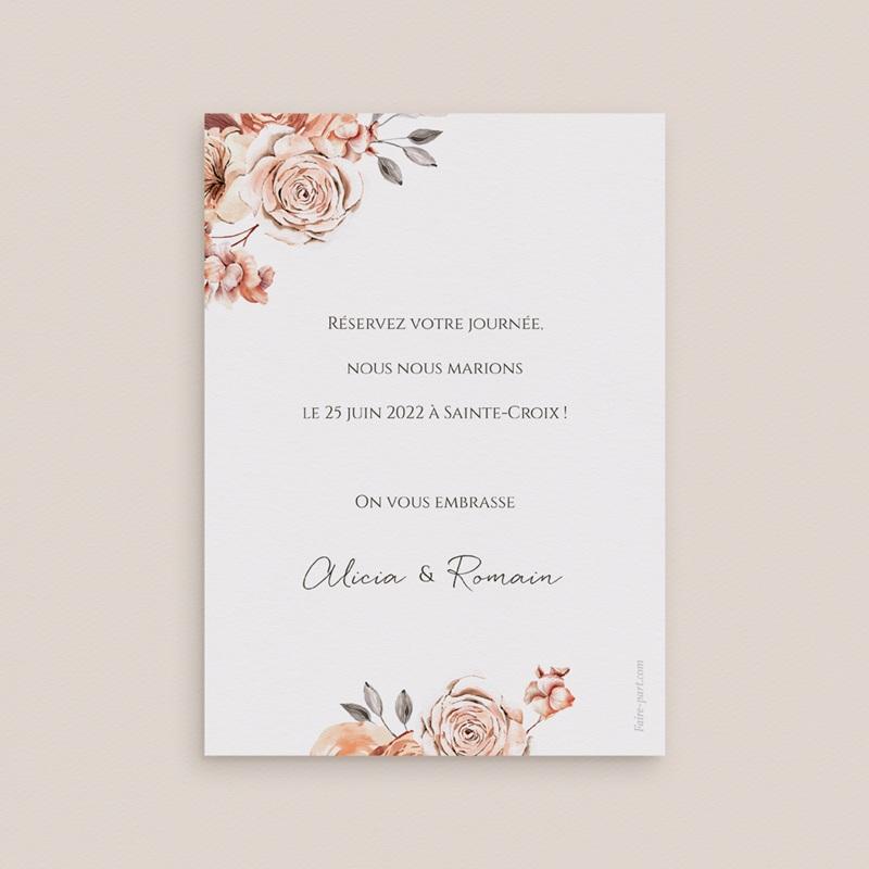Save-the-date mariage Arche de roses caramel, Jour J pas cher