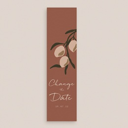 Change the date mariage Citrons terracotta, New date, 5,5 x 21 cm gratuit