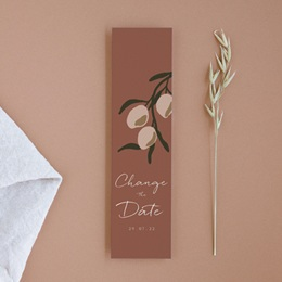 Change the date mariage Citrons terracotta, New date, 5,5 x 21 cm