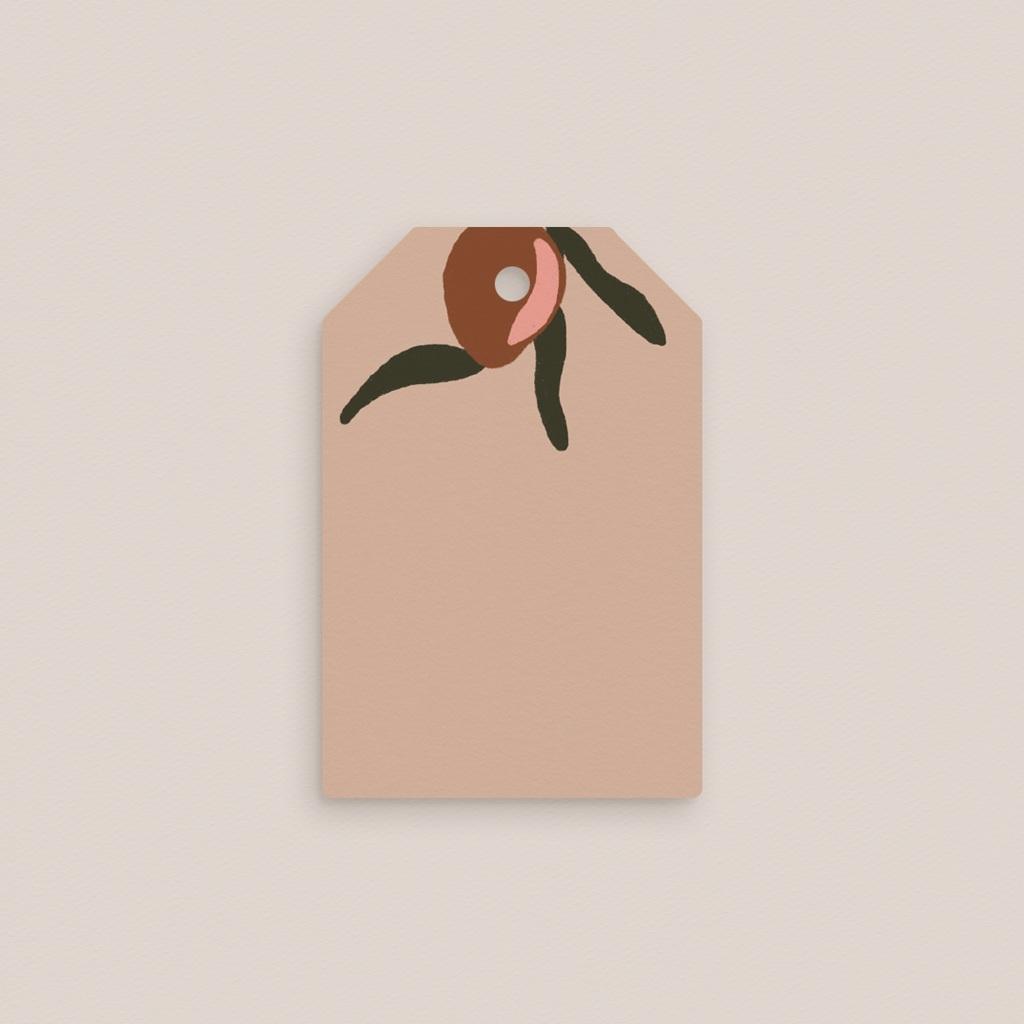 Marque-place mariage Citrons terracotta, rectangulaire, 6 x 4 cm gratuit