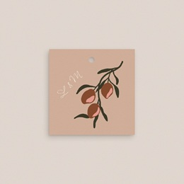 Etiquettes cadeaux mariage Citrons terracotta, Carrée, 4,5 x 4,5 cm gratuit
