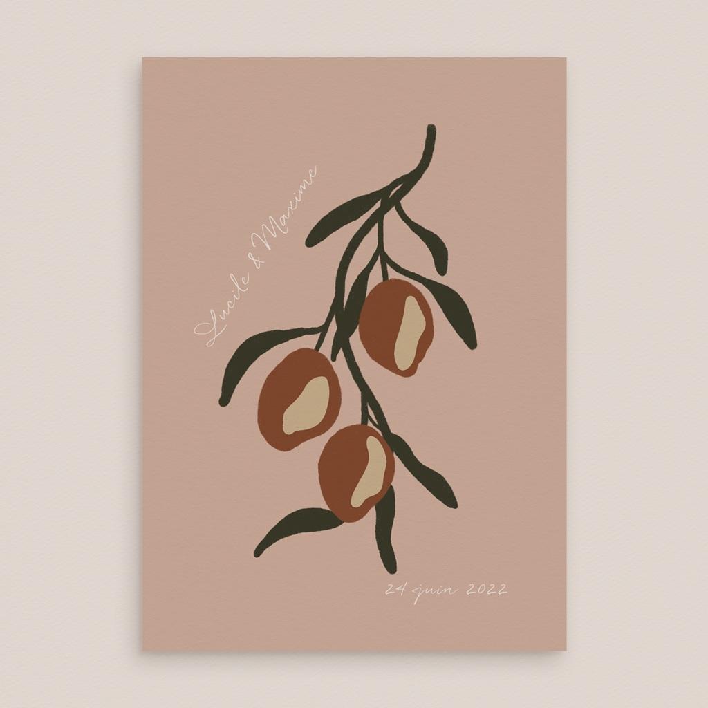 Faire-part de mariage Citrons Terracotta, 15 x 21 cm gratuit