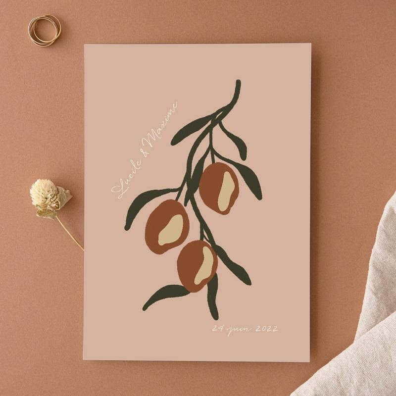 Faire-part de mariage Citrons Terracotta, 15 x 21 cm