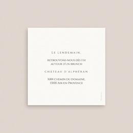Carte d'invitation mariage Citrons Terracotta, 10 x 10 pas cher