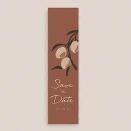Save-the-date mariage Citrons Terracotta, Jour J, 5,5 X 21 cm gratuit