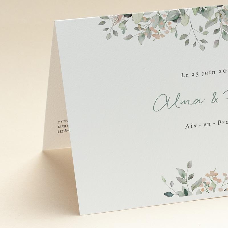 Faire-part de mariage Pastel de Fleurs & Feuillage, 17 x 12, 2 cm gratuit