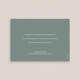 Carte d'invitation mariage Pastel de Fleurs & Feuillage pas cher