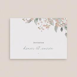 Carte d'invitation mariage Pastel de Fleurs & Feuillage gratuit