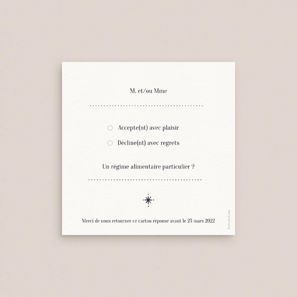 Carton réponse mariage Arche de Minuit pas cher
