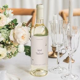 Etiquette bouteille mariage Arche de Minuit Eau et Vin