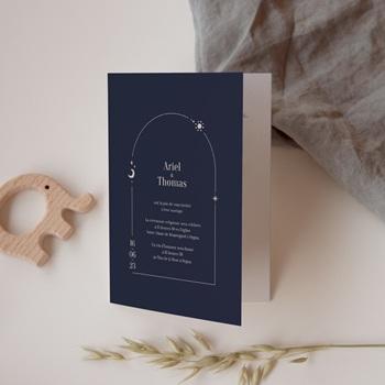 Faire-part de mariage Arche de Minuit avec Programme