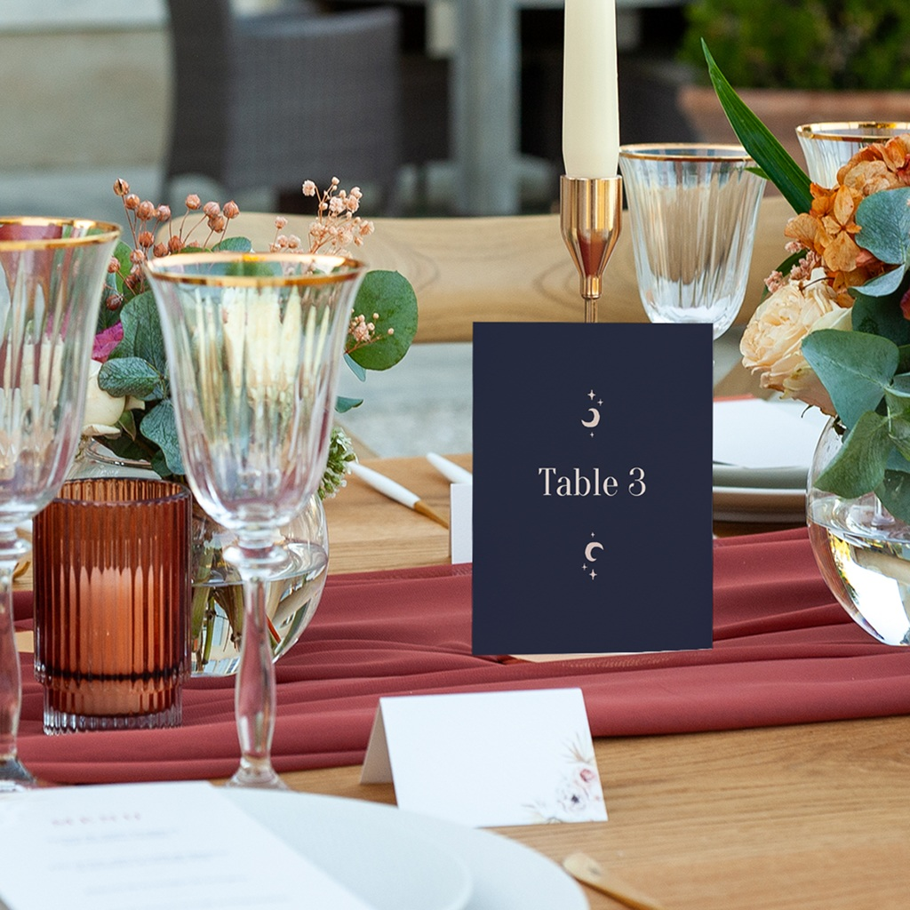 Marque table mariage Arche de Minuit pas cher