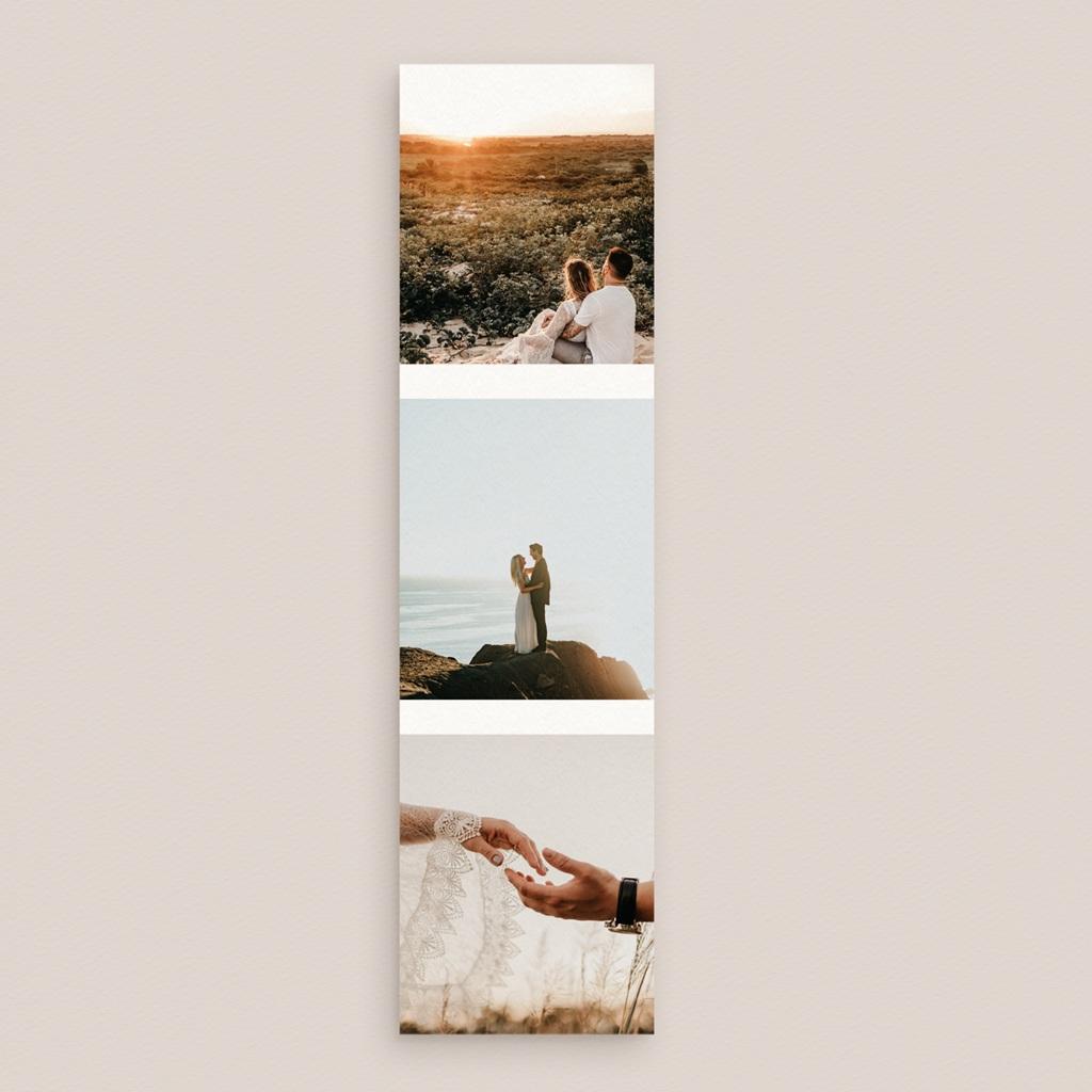 Carte de remerciement mariage Arche de Minuit 3 photos pas cher
