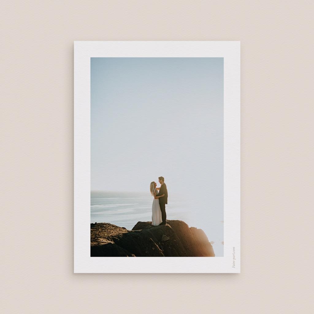 Carte de remerciement mariage Arche de Minuit 1 Photo pas cher