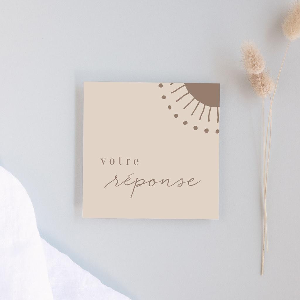 Carton réponse mariage Soleil de Minuit, Rsvp