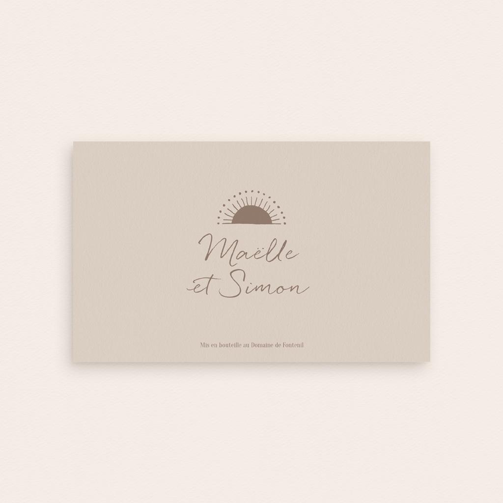 Etiquette bouteille mariage Soleil de Minuit, 13 x 8 cm pas cher