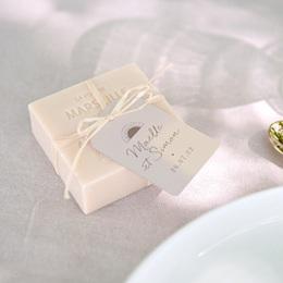 Etiquettes cadeaux mariage Soleil de minuit, souvenir
