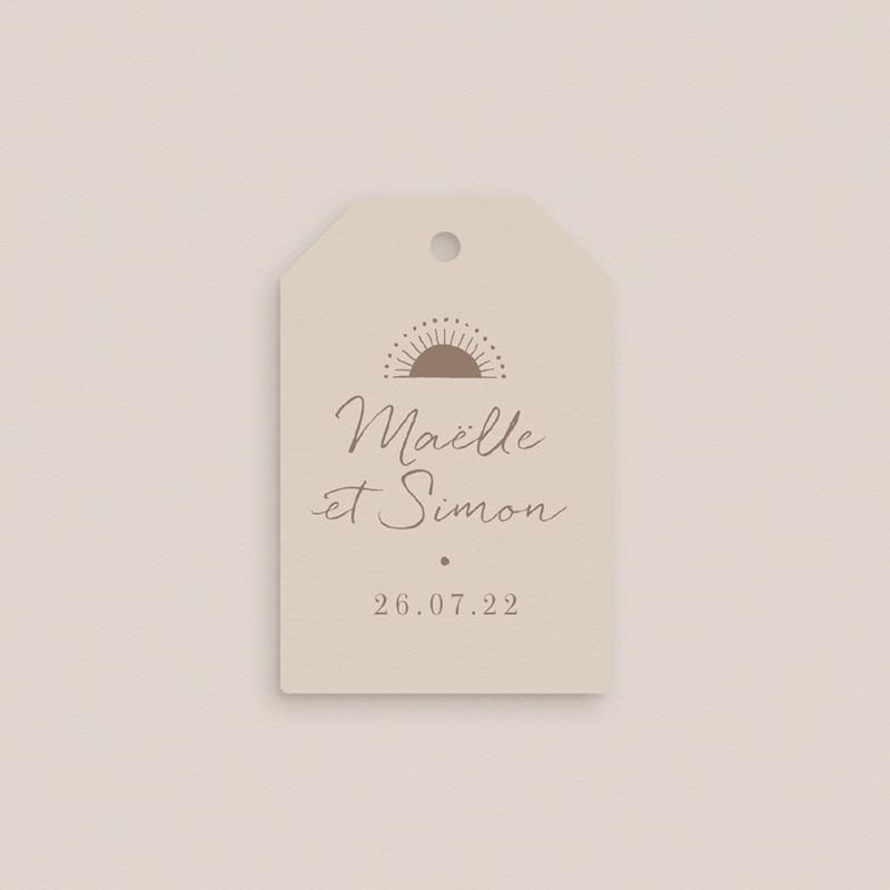 Etiquettes cadeaux mariage Soleil de minuit, souvenir gratuit